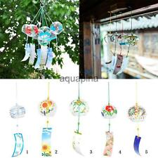 Japan Style Glass Wind Chime Wind Bell Hanging Ornament Window Garden Decoration