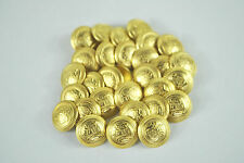 22mm GOLD METAL MILITARY STYLE COAT OF ARMS  BLAZER BUTTONS