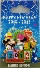 DISNEY HAPPY NEW YEAR EVE 2014 DAY 2015 SPINNER PIN LE 5000 MICKEY MINNIE PLUTO
