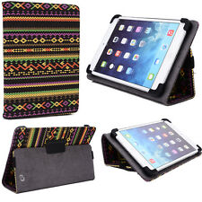 "Premium Protector Folding Folio Paisley Tablet Cover Case Universal 8.0"" Device"