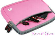 "Kroo Universal 8.5"" Tablet Case w/ Extra Pocket in Another Pink Coming NDEMD-2"