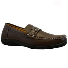 MENS FAUX LEATHER ITALIAN LOAFERS CASUAL MOCCASIN DRIVING SHOES TRAINERS SIZE