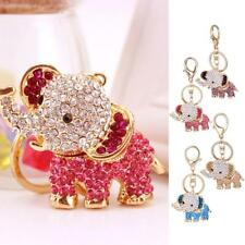 Charm Crystal Elephant Keyring Fashion Keychain Pendants Bag Purse Wallet Decor
