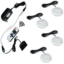 Dimmable LED Under Cabinet Lighting 4 Lights Kit Fixture with RF Remote Control