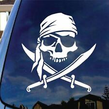 Jolly Roger Skull Vinyl Car Decal Sticker Truck Boat Funny Pirate Jet Ski