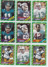 1986 Topps Football Cards Stars Rookies You Choose Marino Lott Dickerson $1 each