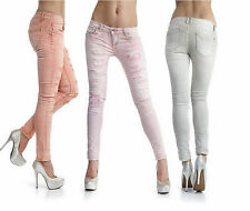 Sexy New Women's Stretchy Jeans Trousers Washed Destroyed Skinny Slim I 614