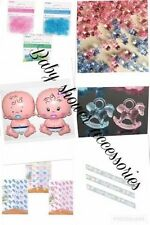 BABY SHOWER ACCESSORIES  PARTY TEAM BLUE DECORATIONS CONFETTI MUM TO BE banners