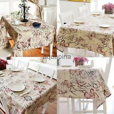British Style Tablecloth Square/Rectangular Floral Cover Wedding Table Decor