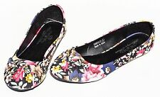 Women's Ballet Flats Shoes Floral Bow Slip On Canvas Ballerina Loafer Slipper