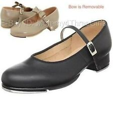New Bloch Mary Jane MJ Buckle Tan or Black Dance Tap Shoes Toddler Child & Adult