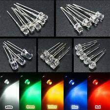10/20/50x 3mm 5mm Colorful DIP LED DIY Round Flat Top Light Emitting Diode Beads