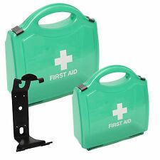CMS Medical Empty Multi Use Plastic Green Clip First Aid Kit Storage Carry Box