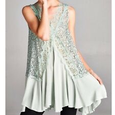 SOUTHERN GIRL FASHION $68 Lace Embroidered Swing Tunic Floral Mini Dress S M L