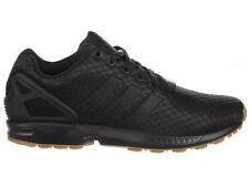NEW MENS ADIDAS ORIGINALS ZX FLUX RUNNING SHOES TRAINERS BLACK / BLACK / GUM