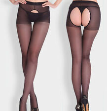 NEW Sexy Women Open Crotch Hosiery Tights Plain Crotchless Pantyhose Stockings