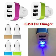 12-24V 3 Port Triple USB Car Charger Adapter For Samsung iPhone 5S 6S ipad Table