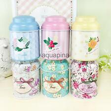 Retro Flower Metal Sugar Coffee Tea Tin Jar Container Candy Sealed Cans Box