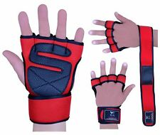 Evo Fitness Neoprene Gym Gloves Wrist Support Straps Wraps Bandag Weight Lifting