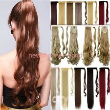 1PCS New Clip In Ponytail Pony Tail Hair Extensions Wrap Around Hair Piece Curly