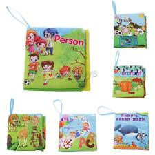 Cute Soft Cloth Book Baby Cognize Book Kid Child Toddler Reading Play Toys