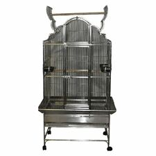 A and E Cage Co. Victorian Top Bird Cage - 36L x 28W x 72H in. - Stainless