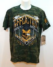 AFFLICTION Mens Tshirt Graphic Tee Black Gold SS Green size sz M L XL NEW NWT