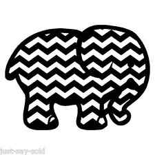 Chevron Elephant Vinyl Decal for Wall, Car, Laptop Cellphone Sticker - Any Color