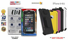 Seidio OBEX Waterproof Case & Holster COMBO for the Apple iPhone 6/6s (4.7 inch)