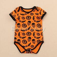 Halloween Baby Infant Boys Girls Pumpkin Romper Bodysuit Jumpsuit Outfit Costume
