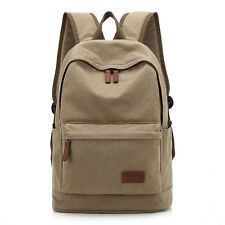 Women's/Men Canvas Travel Satchel Shoulder Bag Backpack Boy School Rucksack new