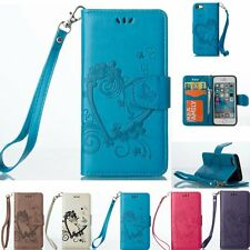 Luxury Flip Cover Stand Wallet Leather Card Case For iPhone 5 5S 6 6S Plus 7 SE