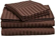 "1000TC 100%Egyptian Cotton Duvet Set/Sheet Set/Fitted""Color Chocolate Stripe"
