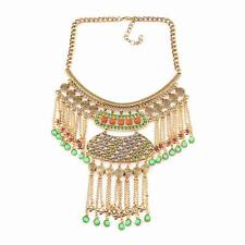 2016 big chunky statement pendant crystal chain alloy necklace jewelry wholesale