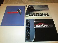 MerCruiser inboard/outboard boat motors advertising booklets 1980 Mercury Marine