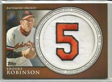 2012 Topps Manufactured Retired Number Patch #RN-BR Brooks Robinson Card