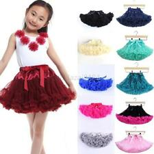 Princess Kid Girl Layer Tulle Mini Skirt Party Dance Cake Tutu Skirt Dance Dress