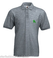 SULTAN STYLE POLO SHIRT WITH GESTICKTEM HORSE RIDER DESIGN COTTON HEAVY POLO