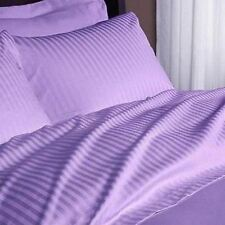 "1000TC 100%Egyptian Cotton Duvet Set/Sheet Set/Fitted""Color Lilac Stripe"