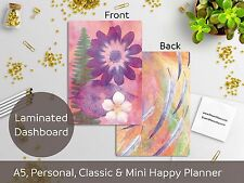 Flowers Bright Laminated Dashboard - Happy Planner, Mini HP,  A5, Personal