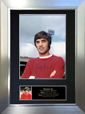 GEORGE BEST Signed Autograph Mounted Photo Repro A4 Print no140