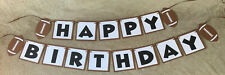 Football Happy Birthday banner. Can be personalized with name and or age!!