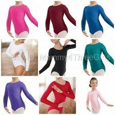 NEW Capezio Bloch Dance Long Sleeve L/S Leotard Bodysuit Many Colors Child Adult