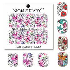 NICOLE DIARY Nail Art Water Decals Stickers DIY Tips Decoration Shining Spring