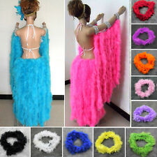 2M Various Colors Thick Marabou Feather Boa For Fancy Dress Party Burlesque Boas