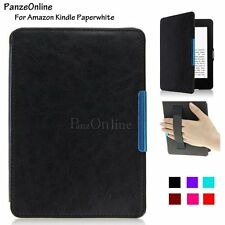 Magnetic Slim Smart PU Leather  Strap Case Cover For Amazon Kindle Paperwhite