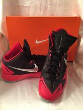 NIB Nike Lunar Hyperquickness Basketball Sneaker Black/  Red 652777006  SZ  11