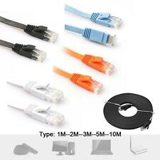 1M/2M/3M/5M FLAT RJ45 CAT6 Ethernet Network LAN Cable Flat UTP Patch Router GL