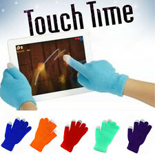 Soft Touch Screen Gloves Smartphone Texting Stretch Adult One Size Winter Knit