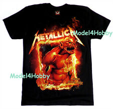 METALLICA T-Shirt Black Size S M L XL JUMP IN THE FIRE HARDROCK HM MONSTER FLAME